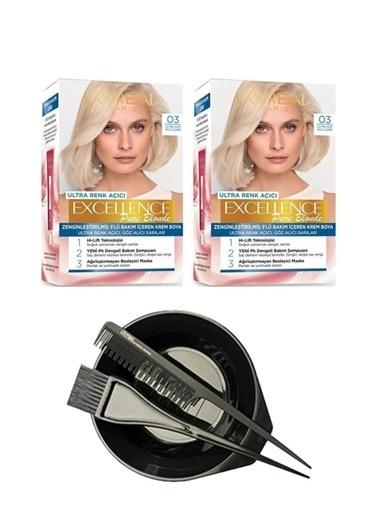 L'Oréal Excellence Pure Blonde 03 X 2 + Saç Boyama Seti Renksiz